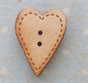 Picture of Wooden Stitched Heart small
