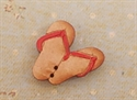 Picture of Wooden thongs, red strap