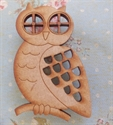 Picture of Wooden Owl Brooch